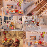 iiecreate K-002 Princess' Dream DIY Doll House With Furniture Light Music Gift House Toy