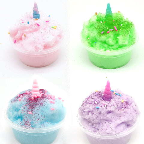 60ML Slime Brushed Mud Unicorn  Crystal Clay Decompression Plasticine Toys