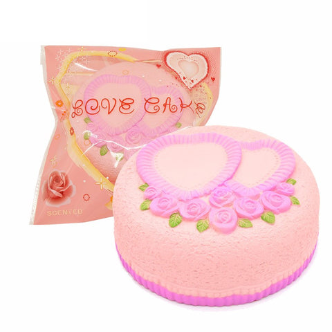Areedy Squishy Love Cake Jumbo Rose Heart Cake Licensed Slow Rising Original Packaging Collection Gift Decor