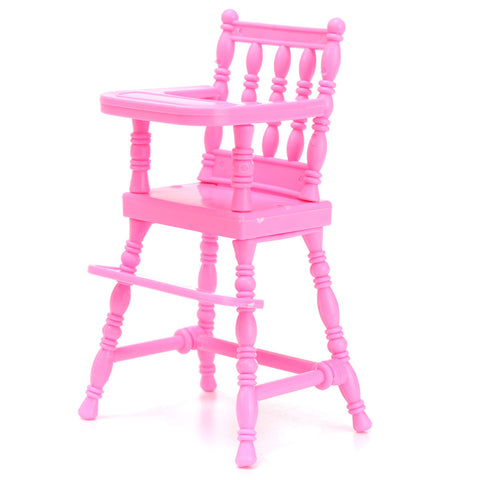 Pink Miniature Chair Toy Furniture For Dollhouse Decoration
