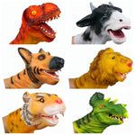 Dino Head Triceratops Dinosaurs Finger Puppet Dolls Rubber Hand Glove Toy For Kids Educational Gift