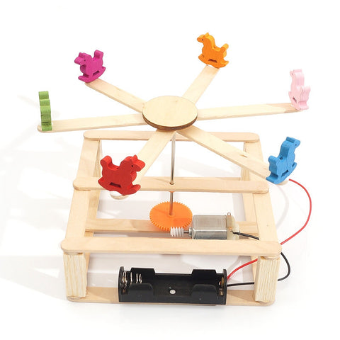 STEM Carousel Model Whirligig Merry-go-round Toy Education Developmental Science Toy