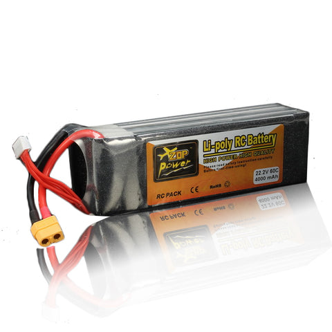 ZOP Power 22.2V 4000mAh 6S 60C Lipo Battery XT60 Plug