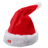 Dancing Father Christmas Reindeer Waving Christmas Hat Stuffed Plush Toy Funny Gift