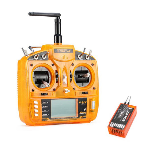 FsFly T-six 2.4GHz 6CH DSM2 Compatible Transmitter With Redcon CM703 DSM2 Receiver
