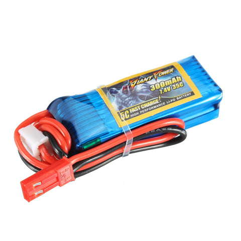 Giant Power 7.4V 300mAh 2S 35C Battery For HCP100s T-REX 150 F3P