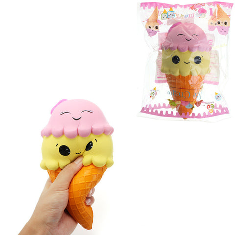 Squishy Ice Cream Cone Jumbo 22cm Slow Rising With Packaging Collection Gift Soft Toy