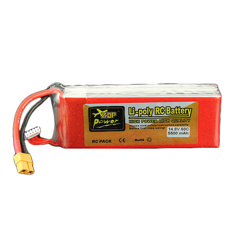 ZOP Power 14.8V 5500mAh 4S 60C Lipo Battery XT60 Plug