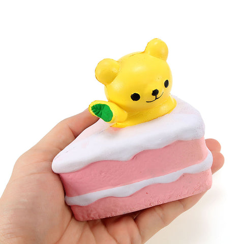 Squishy Bear Cake 10cm Random Color Slow Rising Collection Gift Decor Soft Cute Squeeze Toy