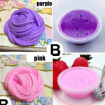 Pink Blue White Purple 60ml Bright Color DIY Hand Clay Slime Mud Toys