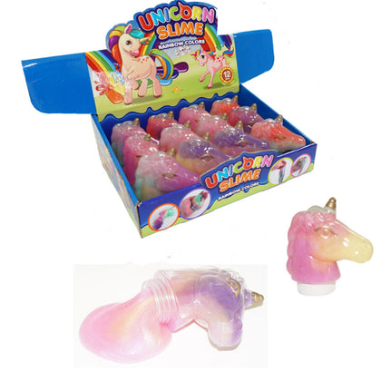 Unicorn Crystal Slime 8.5*8.5*4CM 108G Decompression Mud DIY Gift Toy Stress Reliever