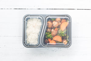 2 Compartment MVP Containers [10 PACK]