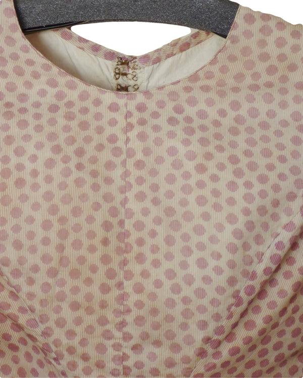 1850s French Polka Dot Cotton Bodice