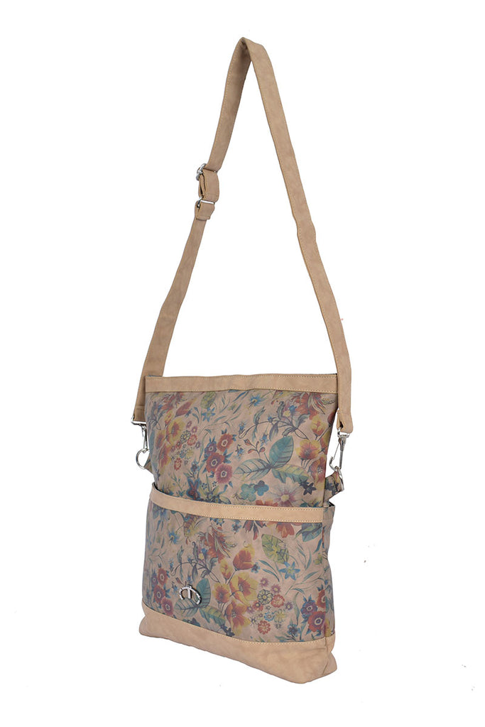 LEATHER FLOWER TOTE BAG