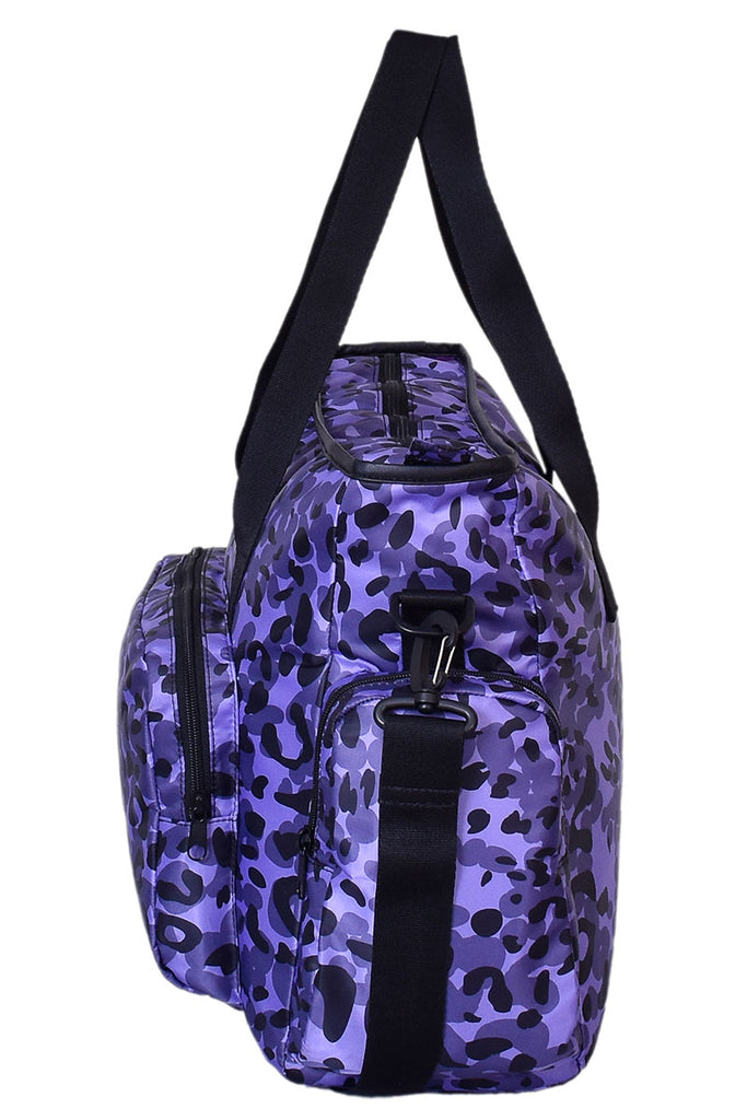 PURPLE CHEETAH SHOULDER BAG