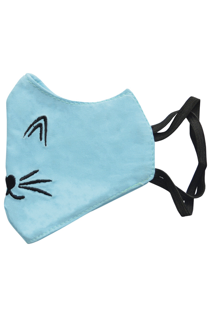 6 PCS OF DOUBLE LAYER CAT FACE MASK FOR KID'S (5 PCS + 1 FREE)