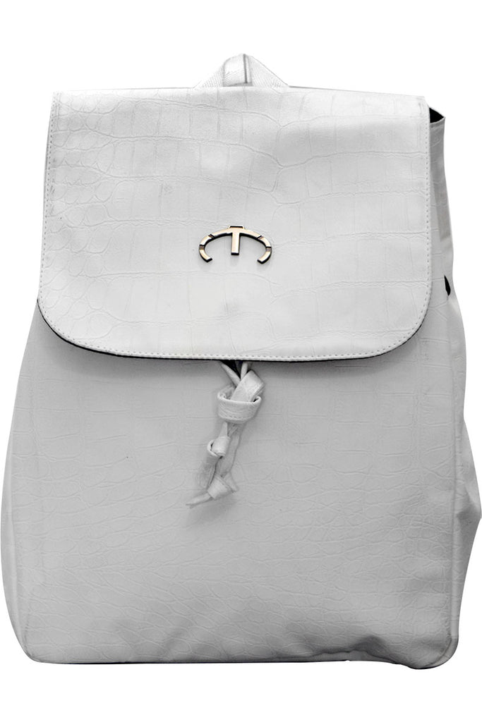 GIRL WHITE LEATHER MINI BP