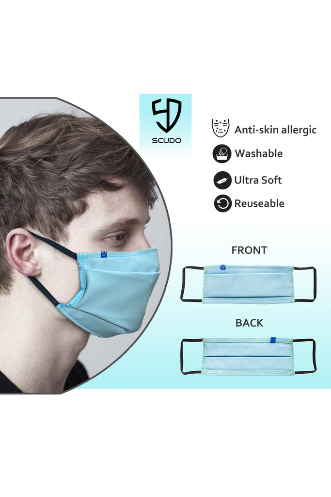 3 PCS OF FACE MASK WITH INNER FILTER POCKET