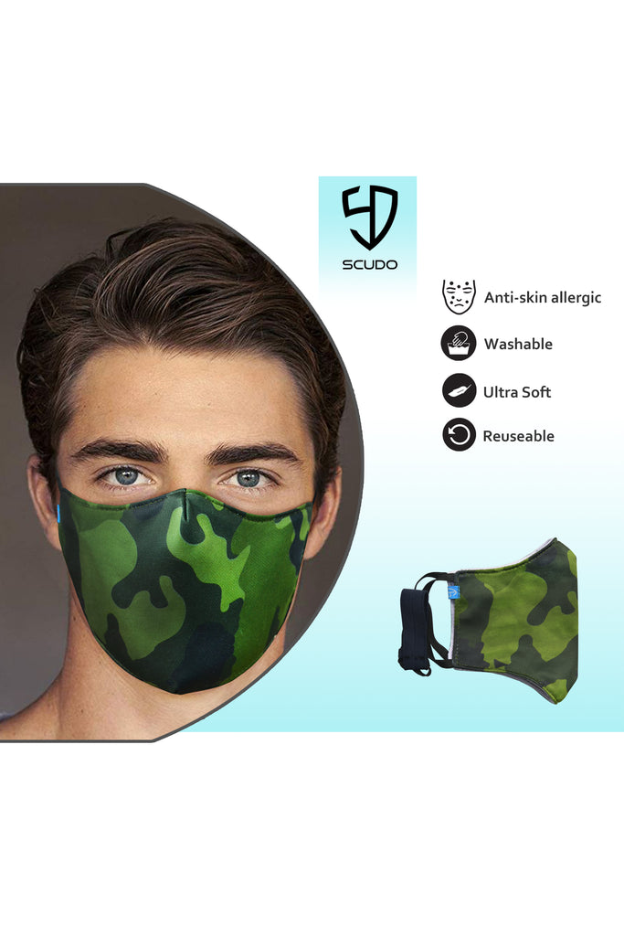 3 PCS OF DOUBLE LAYER CAMO FACE MASK