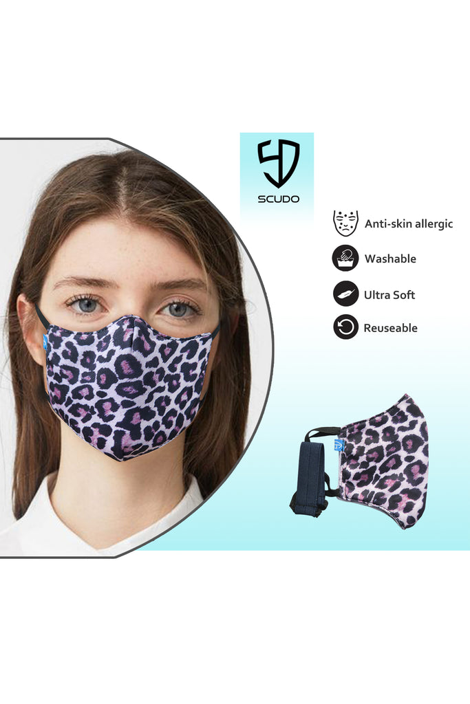 1 PCS OF DOUBLE LAYER CHEETAH FACE MASK
