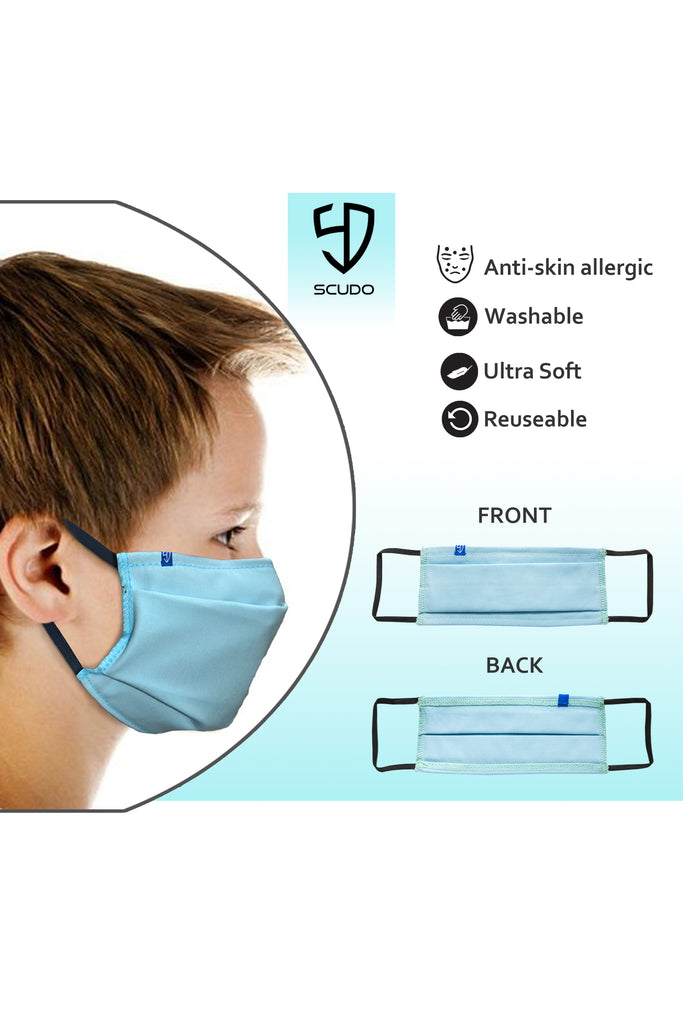 6 PCS OF DOUBLE LAYER FACE MASK FOR KID'S (5 PCS + 1 FREE)