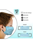 1 PCS OF DOUBLE LAYER FACE MASK FOR KID'S