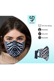 3 PCS OF DOUBLE LAYER ZEBRA FACE MASK