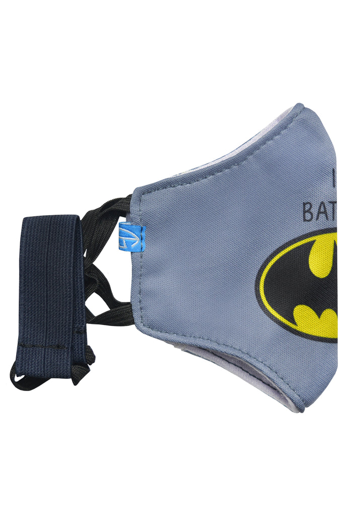 1 PCS OF DOUBLE LAYER I'M BATMAN FACE MASK FOR KID'S