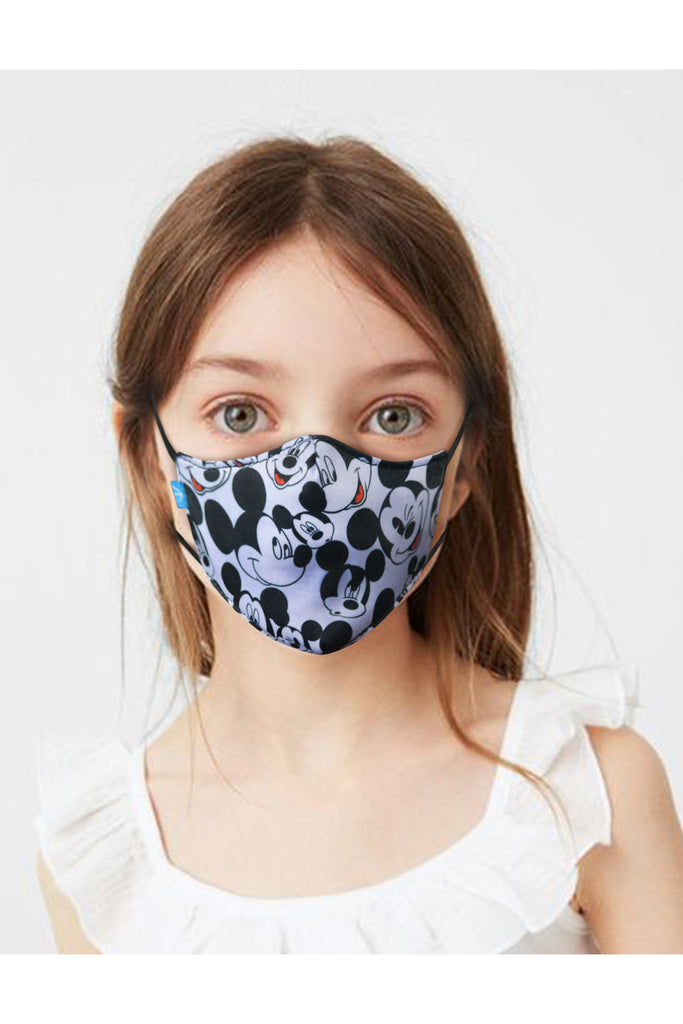 6 PCS OF DOUBLE LAYER MICKEY MOUSE FACE MASK FOR KID'S (5 PCS + 1 FREE)