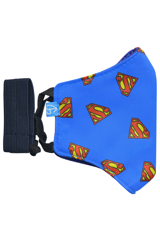 3 PCS OF DOUBLE LAYER SUPERMAN 2 IN 1 FACE MASK FOR KID'S