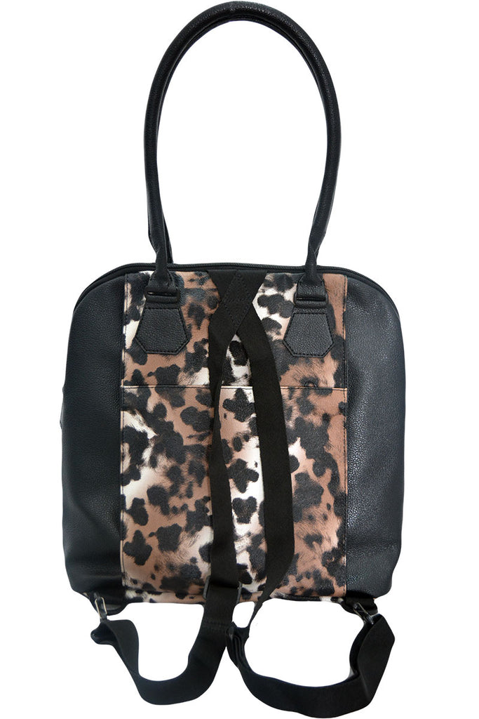 LEOPARD HANDBAG BROWN
