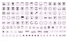 Load image into Gallery viewer, 119 ASSORTED OVEN SYMBOLS FOR STOVES, OVENS AND RANGES