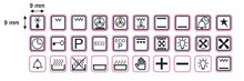 Load image into Gallery viewer, GOLD OR WHITE 30 ASSORTED OVEN SYMBOLS FOR STOVES, OVENS AND RANGES