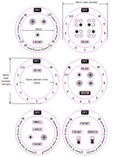 Load image into Gallery viewer, AMERICAN COOKER SET OF 6 DIALS + 4 RING COOKER TOP STICKER MARKINGS