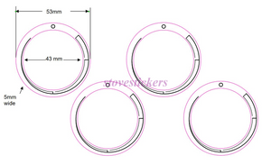 STOVE GRADIENT LINES 43MM DIAMETER ANTI-CLOCKWISE