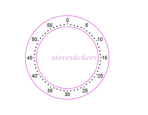 60 MINUTE OVEN TIMER MARKING STICKER
