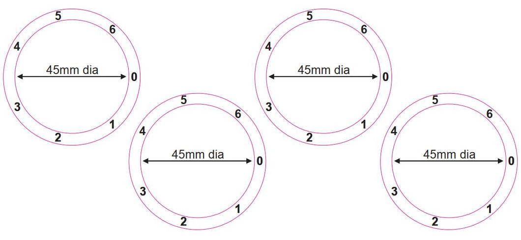 STOVE COOKER HOB DIAL KNOB NUMBERS 1- 6 CLOCKWISE WITH RIGHT FACING ZERO
