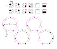 Load image into Gallery viewer, BUNDLE SET - 4 RING HOB COOKER TOP STICKERS DECALS + 0-6 HOB STOVE NUMBERS WITH ZERO AT TOP