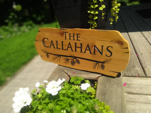 Home and Cottage Cedar Road Sign, Customized to your text