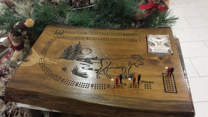 Solid wood cribbage board