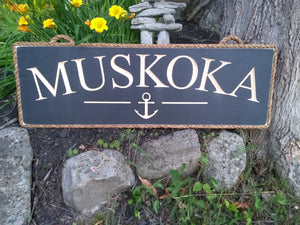 Muskoka Sign with Anchor