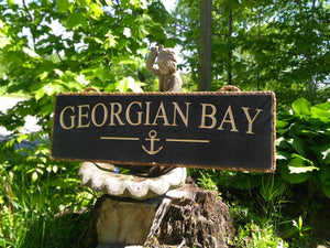 Georgian Bay Sign with Anchor