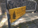 Cedar Road Sign, Rectangular With Tree and 2 Personalized lines - Maison Muskoka