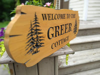 Cedar Road Sign, 2 trees and 3 lines of Text - Maison Muskoka