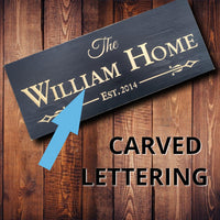 Personalized Family Home Sign