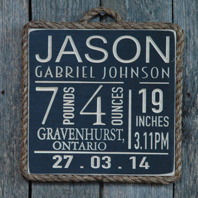 Personalized Birth Announcement - Maison Muskoka