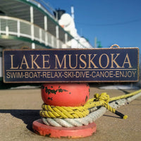 Large Lake Sign
