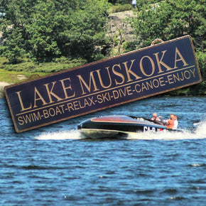 Lake and River Sign, personalize and customize this sign