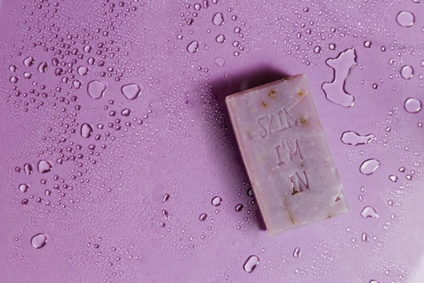 Akoyn Beauty lavender bar soap.