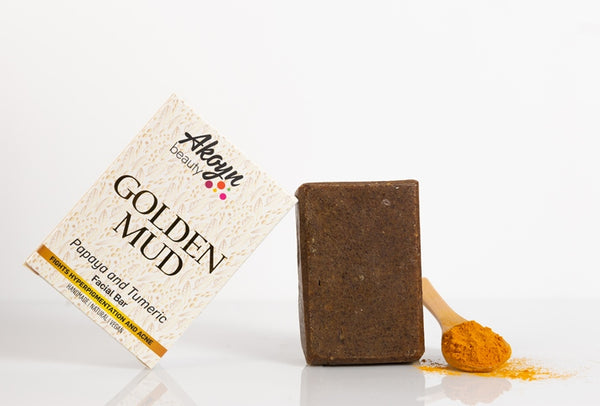 Akoyn Beauty Golden Mud facial soap.